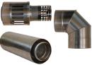 Коаксиальный дымоход для газовых каминов Karma Style 1000 мм в Ростове-на-Дону